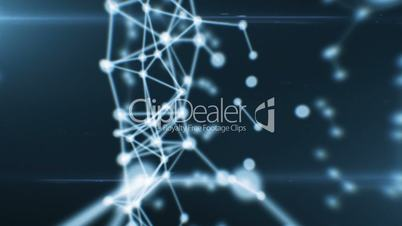 Abstract Beautiful Network Animation. Dots connecting. Looped. HD 1080.