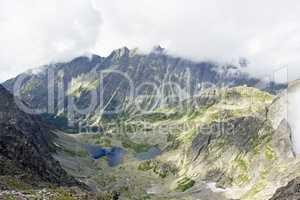 Mist over mountain peaks