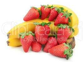 composition of banana and strawberry