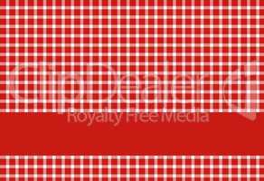 Tischdecke rot weiß mit Streifen