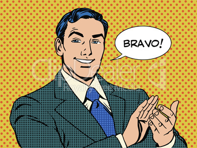 man applause Bravo concept of success