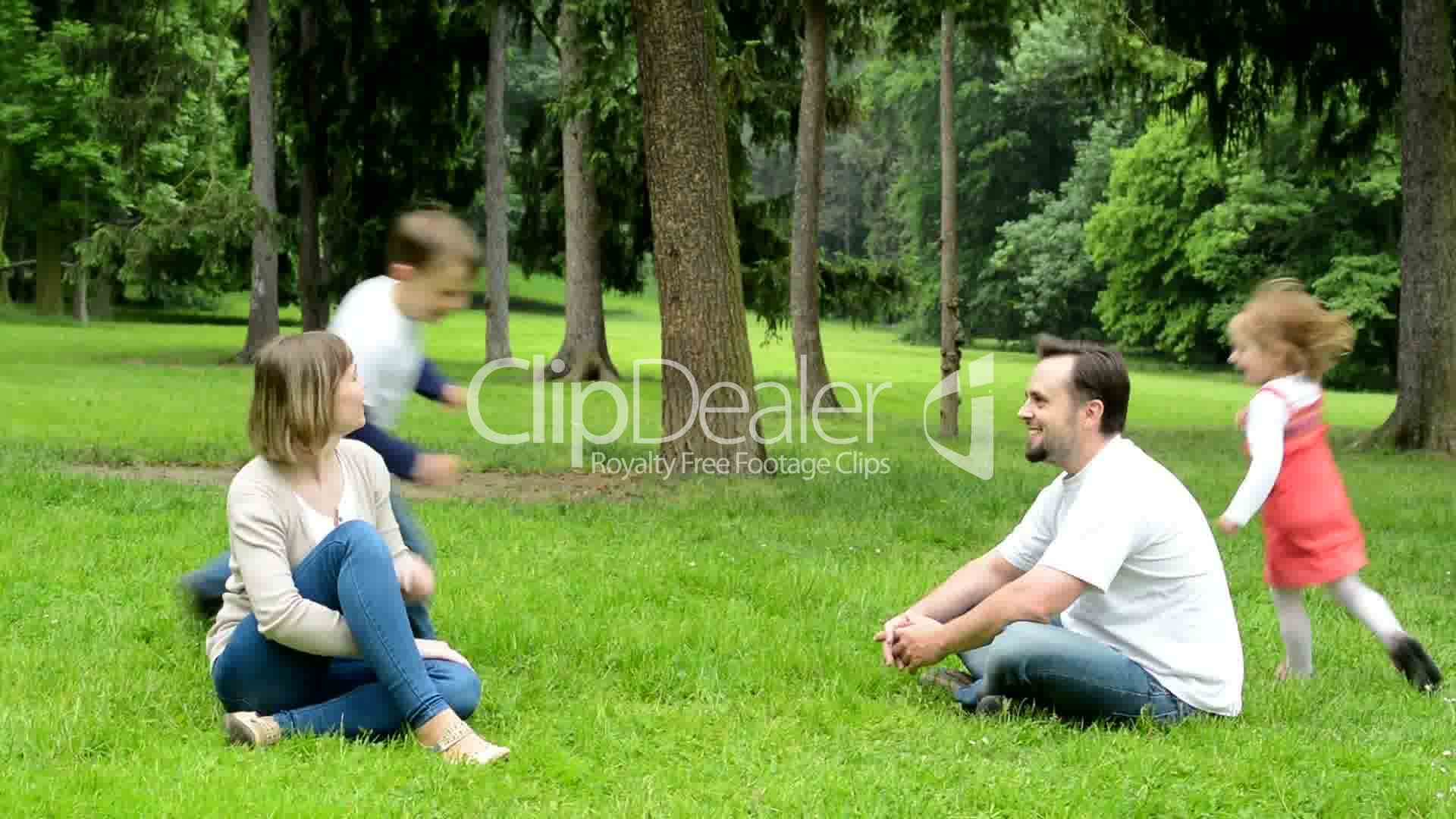 Family middle couple in love cute girl and small boy relax clips family middle couple in love cute thecheapjerseys Choice Image