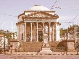 Retro looking Gran Madre church Turin