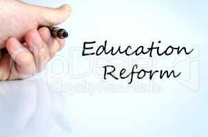 Education reform text concept
