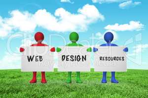 Composite image of web design resources