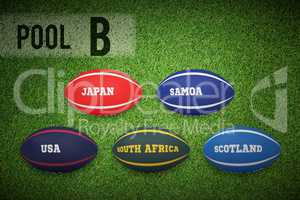 Composite image of rugby world cup pool b