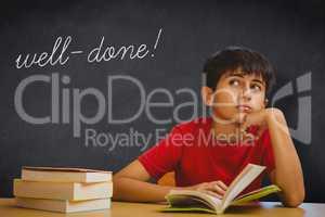 Well-done! against blackboard