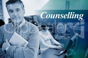 Counselling against teacher standing while holding a tablet pc