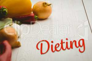 Composite image of dieting