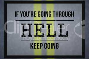 Composite image of motivational message