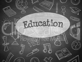Education against black background