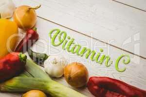Composite image of vitamin c