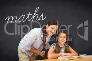 Maths against blackboard