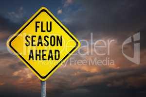 Composite image of flu season ahead