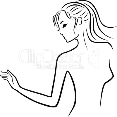 Abstract young women outline