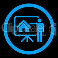 Realtor flat blue color rounded glyph icon