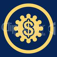 Payment options flat yellow color rounded glyph icon