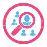 Marketing flat pink and blue colors rounded glyph icon