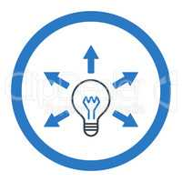 Idea flat smooth blue colors rounded glyph icon