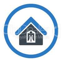 Home flat smooth blue colors rounded glyph icon