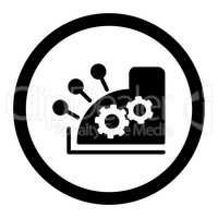 Cash register flat black color rounded glyph icon