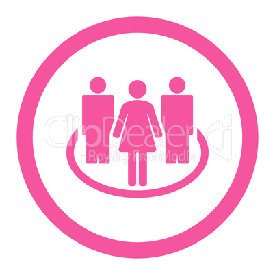 Society flat pink color rounded glyph icon