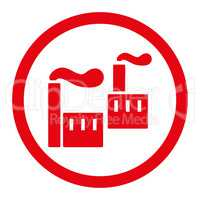 Industry flat red color rounded glyph icon