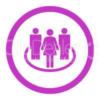 Society flat violet color rounded glyph icon