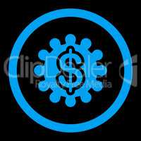 Payment options flat blue color rounded vector icon