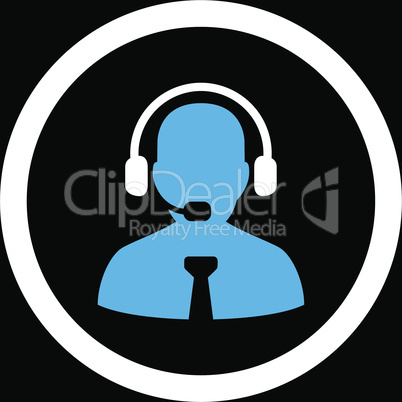 bg-Black Bicolor Blue-White--support chat.eps