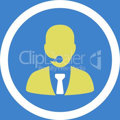 bg-Blue Bicolor Yellow-White--call center operator.eps