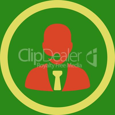 bg-Green Bicolor Orange-Yellow--call center operator.eps