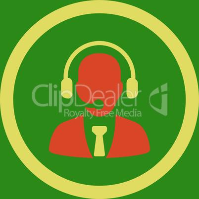 bg-Green Bicolor Orange-Yellow--call center.eps