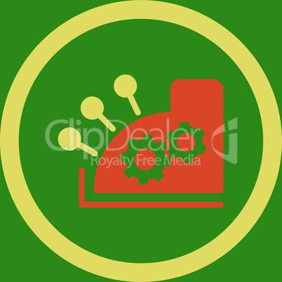bg-Green Bicolor Orange-Yellow--cash register.eps