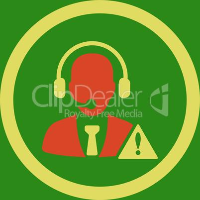 bg-Green Bicolor Orange-Yellow--emergency service.eps