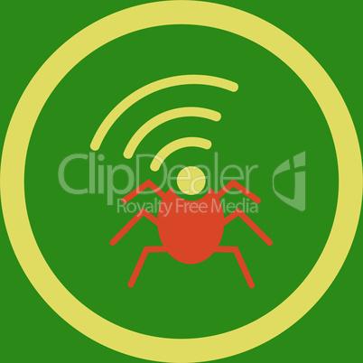 bg-Green Bicolor Orange-Yellow--radio spy bug.eps