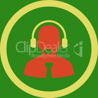 bg-Green Bicolor Orange-Yellow--support chat.eps