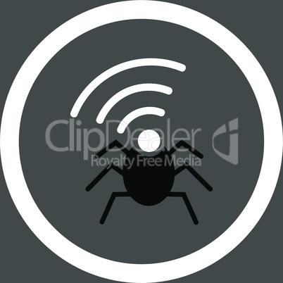 bg-Gray Bicolor Black-White--radio spy bug.eps