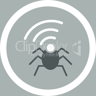 bg-Silver Bicolor Dark_Gray-White--radio spy bug.eps