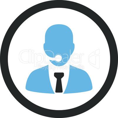 Bicolor Blue-Gray--call center operator.eps