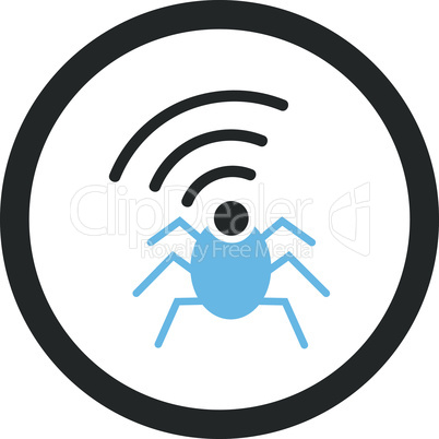 Bicolor Blue-Gray--radio spy bug.eps