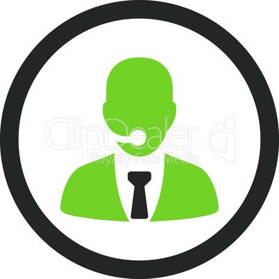 Bicolor Eco_Green-Gray--call center operator.eps