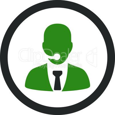 Bicolor Green-Gray--call center operator.eps