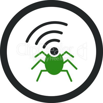 Bicolor Green-Gray--radio spy bug.eps