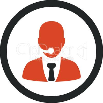 Bicolor Orange-Gray--call center operator.eps