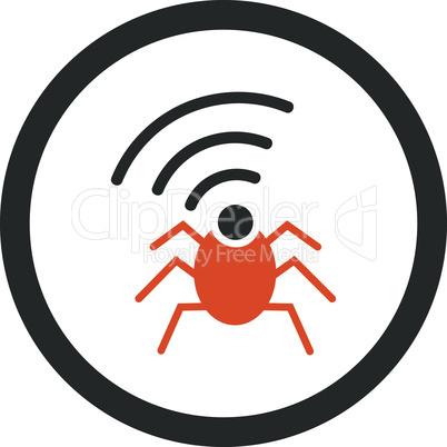 Bicolor Orange-Gray--radio spy bug.eps