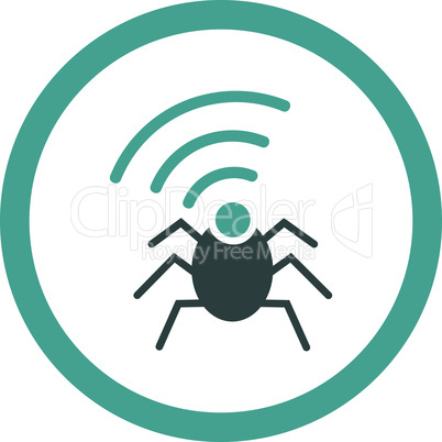 Bicolor Soft Blue--radio spy bug.eps
