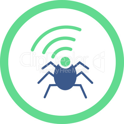 BiColor Cobalt-Cyan--radio spy bug.eps