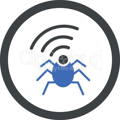 BiColor Cobalt-Gray--radio spy bug.eps