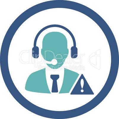 BiColor Cyan-Blue--emergency service.eps